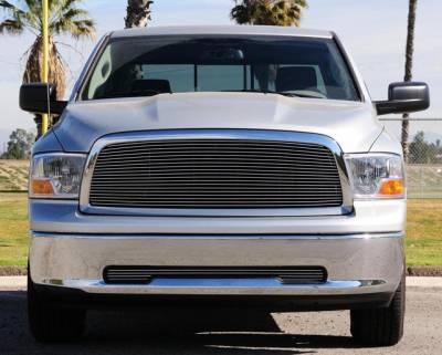 T-Rex - Dodge Ram T-Rex Bumper Billet Grille with Tow Hooks Removed - 25456