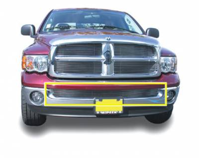 T-Rex - Dodge Ram T-Rex Bumper Billet Grille Insert - Use with Chrome Bumpers - 25465