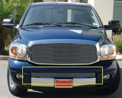 T-Rex - Dodge Ram T-Rex Bumper Billet Grille Insert - Full Opening - Remove Hooks - 25467