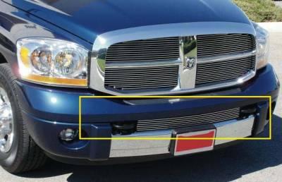 T-Rex - Dodge Ram T-Rex Bumper Billet Grille Insert - Between Tow Hooks - 25468