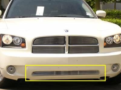 T-Rex - Dodge Charger T-Rex Bumper Billet Grille - 4 Bars - 25474