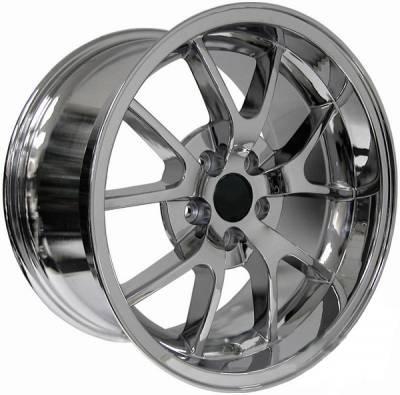 AM Custom - Ford Mustang Chrome Deep Dish FR500 Wheel