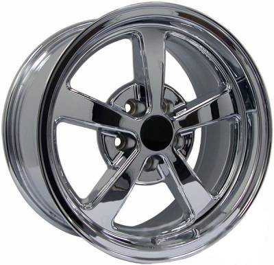 AM Custom - Ford Mustang Chrome Deep Dish Mach 1 Wheel