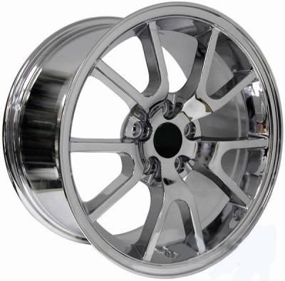 AM Custom - Ford Mustang Chrome FR500 Wheel