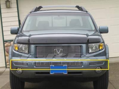 T-Rex - Honda Ridgeline T-Rex Bumper Billet Grille Insert - Center & Sides - 3PC - 25733