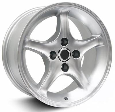AM Custom - Ford Mustang Silver 1995 Style Cobra R Wheel