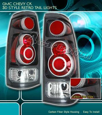 Custom - Retro Carbon Taillights