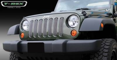 T-Rex - Jeep Wrangler T-Rex Vertical Billet Grille Insert - 7PC - 30481