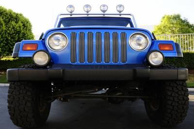 T-Rex - Jeep Wrangler T-Rex Vertical Billet Grille Insert - 7PC - 30490