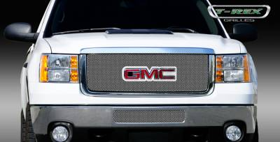 T-Rex - GMC Sierra T-Rex Sport Series Formed Mesh Grille - Stainless Steel - Triple Chrome Plated with Logo Opening - 44210