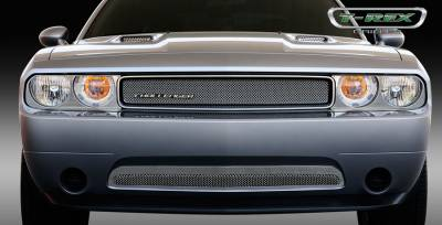 T-Rex - Dodge Challenger T-Rex Sport Series Formed Mesh Grille - Stainless Steel - Triple Chrome Plated - 44415