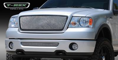 T-Rex - Ford F150 T-Rex Sport Series Formed Mesh Grille - Stainless Steel - Triple Chrome Plated without Logo Opening - 44557