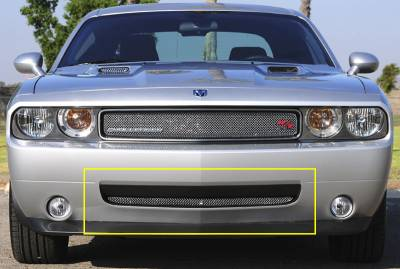 T-Rex - Dodge Challenger T-Rex Sport Series Formed Mesh Bumper Grille - Triple Chrome Plated - 45415