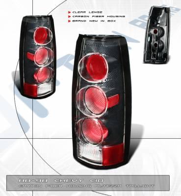 Custom - Euro Clear Lense Carbon Taillights