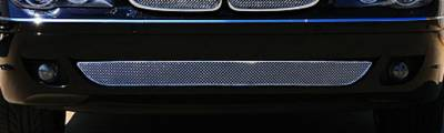T-Rex - BMW 7 Series T-Rex Sport Series Formed Stainless Steel Mesh Bumper Grille with thin SS Frame - Triple Chrome Plated - 45998