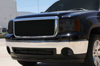 T-Rex - GMC Sierra T-Rex Sport Series Formed Mesh Grille - All Black Powdercoat - 46205