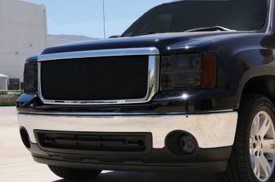 T-Rex - GMC Sierra T-Rex Sport Series Formed Mesh Grille - All Black Powdercoat - 46206