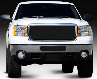 T-Rex - GMC Sierra T-Rex Sport Series Formed Mesh Grille - All Black Powdercoat - 46209