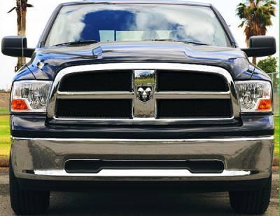 T-Rex - Dodge Ram T-Rex Sport Series Formed Mesh Grille - All Black Powdercoat - 4PC - 46456