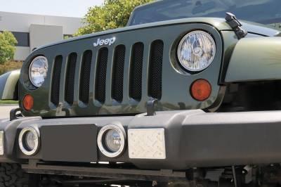 T-Rex - Jeep Wrangler T-Rex Sport Series Formed Mesh Grille - Black - 46481