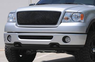 T-Rex - Ford F150 T-Rex Sport Series Formed Mesh Grille - All Black Powdercoat without Logo Opening - 46557