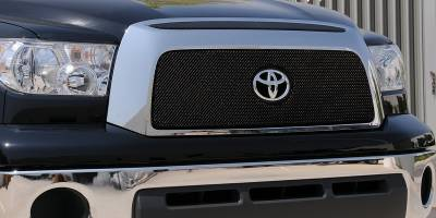 T-Rex - Toyota Tundra T-Rex Sport Series Formed Mesh Grille - All Black Powdercoat with Logo Opening - 46960
