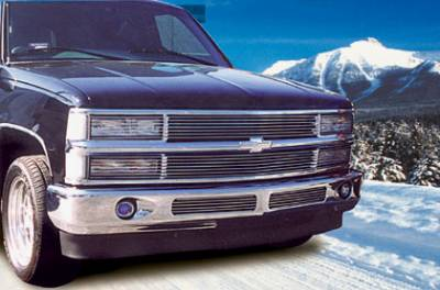 T-Rex - Chevrolet Silverado T-Rex Grille Assembly - Paintable with Phantom Billet & Bowtie Installed - No Headlight Recess - 50065
