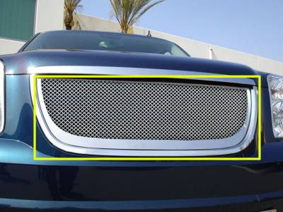 T-Rex - GMC Yukon T-Rex Grille Assembly - Aftermarket Chrome Shell with Mesh - 50172