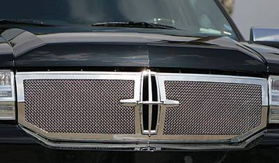 T-Rex - Lincoln Navigator T-Rex OE Grille Assembly Chrome with 2PC Upper Class Mesh Grille - 50713