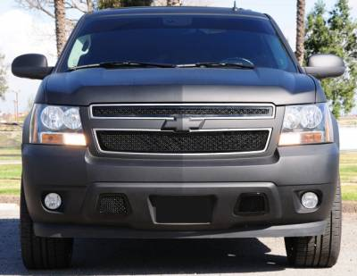 T-Rex - Chevrolet Tahoe T-Rex Upper Class Mesh Grille - All Black - 2PC Style - 51050