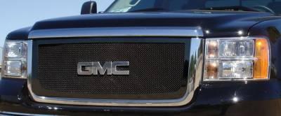 T-Rex - GMC Sierra T-Rex Upper Class Mesh Grille - All Black - 51206