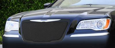 T-Rex - Chrysler 300 T-Rex Upper Class Mesh Grille - All Black with Formed Mesh Center - 51433