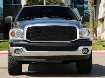 T-Rex - Dodge Ram T-Rex Upper Class Polished Stainless Mesh Grille - Full Open - 1PC - 51459
