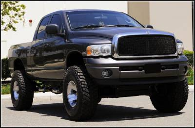 T-Rex - Dodge Ram T-Rex Upper Class Mesh Grille - Full Open - All Black - 1PC - 51461