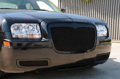 T-Rex - Chrysler 300 T-Rex Upper Class Mesh Grille - All Black - 51471