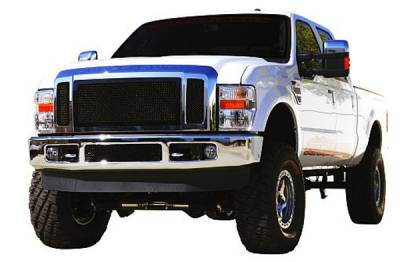 T-Rex - Ford Superduty T-Rex Upper Class Mesh Grille - All Black - 3PC - 51563
