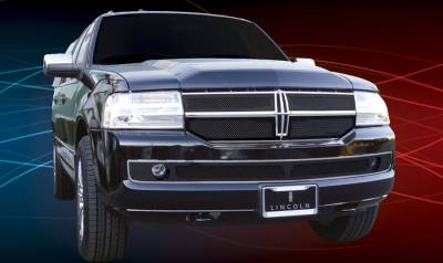 T-Rex - Lincoln Navigator T-Rex Upper Class Mesh Grille - All Black - 4PC - 51712