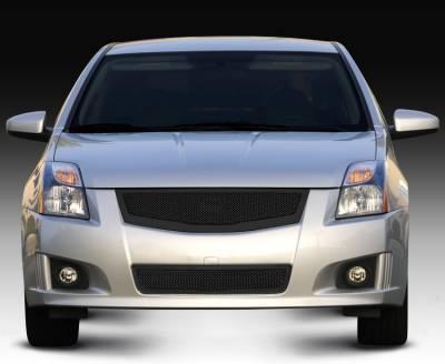 T-Rex - Nissan Sentra T-Rex Upper Class Mesh Grille - All Black - 51764