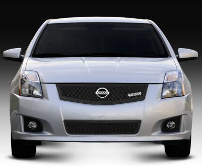 T-Rex - Nissan Sentra T-Rex Upper Class Mesh Grille with Logo Plate - All Black - 51765