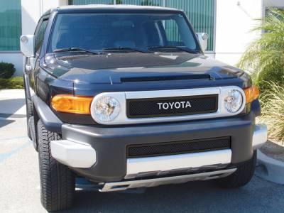 T-Rex - Toyota FJ Cruiser T-Rex Upper Class Mesh Grille - All Black - 2PC - 51932