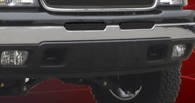 T-Rex - Chevrolet Silverado T-Rex Upper Class Bumper Mesh Grille - All Black - 52103