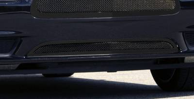 T-Rex - Dodge Charger T-Rex Upper Class Mesh Bumper Grille - All Black with Formed Mesh - 52442