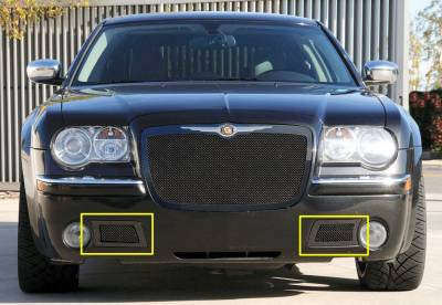 T-Rex - Chrysler 300 T-Rex Upper Class Mesh Bumper Grille - All Black with Formed Mesh - 52471