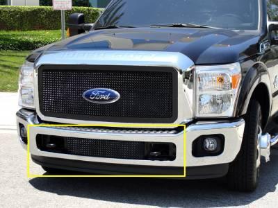 T-Rex - Ford Superduty T-Rex Upper Class Bumper Mesh Grille - Between Tow Hooks - All Black Powdercoat - 52546