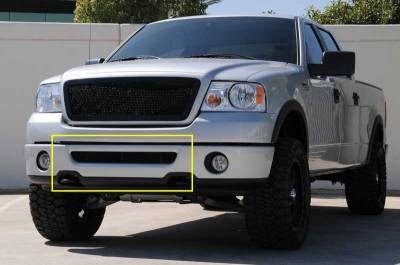 T-Rex - Ford F150 T-Rex Upper Class Bumper Mesh Grille - All Black with Formed Mesh - 52555