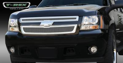T-Rex - Chevrolet Tahoe T-Rex Upper Class Polished Stainless Mesh Grille - 2PC Style - 54051