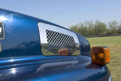 T-Rex - Chevrolet Kodiak T-Rex Upper Class Polished Stainless Mesh Grille - Side Vent - Mesh Style - 54084