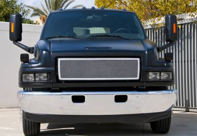 T-Rex - Chevrolet Kodiak T-Rex Upper Class Polished Stainless Mesh Grille - 1PC Style - 54087