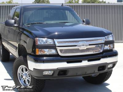 T-Rex - Chevrolet Silverado T-Rex Upper Class Polished Stainless Mesh Grille - 2PC Style - 54106