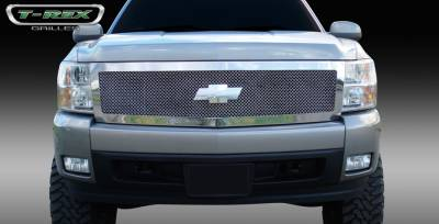 T-Rex - Chevrolet Silverado T-Rex Upper Class Polished Stainless Mesh Grille - 1PC Style - 54111
